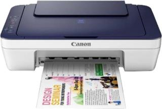 Canon PIXMA E417 Multi-function Color Printer(Blue and White, Ink Cartridge)