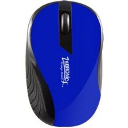Zebronics Arrow USB Optical Mouse (Blue) Front View