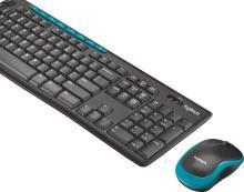 Logitech MK275 Mouse & Wireless Laptop Keyboard(Black)
