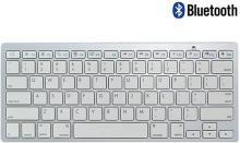 Callmate Bluetooth Keyboard with B.T USB Dongle - Silver Bluetooth Laptop Keyboard(Silver)