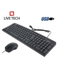 Live Tech MK05 Black USB Wired Keyboard Mouse Combo Ergonomic Design for Incredible Typing Experience