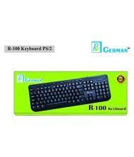 R3 GERMAN B07M95LMK3 Black USB Wired Desktop Keyboard