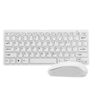 ROOQ Ultra Thin 2.4 GHZ White Wireless Keyboard Mouse Combo