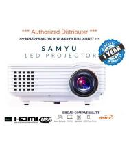 SAMYU Mini LED LCD Video Projector Multimedia Perfect for Home Theater Cinema Entertainment Movie Gaming LED Projector 1920x1080 Pixels (HD)