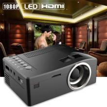1080P HD LED Home MulitMedia Theater Cinema USB TV VGA SD HDMI Mini Projector BK