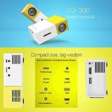 Generic YG300 400LM Portable Mini Home Theater LED Projector with Remote Controller, Support HDMI, AV, SD, USB Interfaces (Yellow)