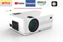 Jteck HQ4 Portable Projector(White)