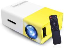 CHG 600 lm LED Corded & Cordless Mobiles Portable Projector (Multicolor Portable Projector(Yellow)