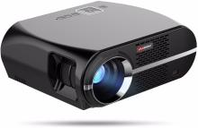 OVIO Vivibright GP100 Video Projector,3500 Lumens LCD 1080P Full-HD LED Portable Multimedia Home Theater Projector Portable Projector(Black)