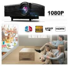 Excelvan LED-1018 Mini LCD Projector 1080P With HDMI USB VGA AV SD Multimedia Interfaces Black