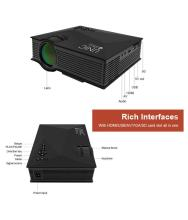 Black UNIC UC46 Full HD LED Video Home Cinema Projector with WIFI Ready