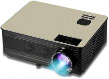 PLAY LED Projector Home Beamer FULL HD with 3d Glasses Portable Projector(Beige)