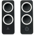 Logitech - Z200 2.0 Channel Speakers Black