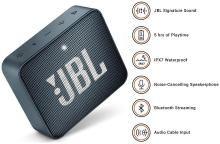 JBL Go 2 Bluetooth Speaker (Navy Blue)